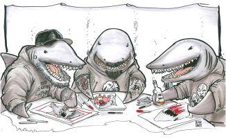 Sharks Drawing